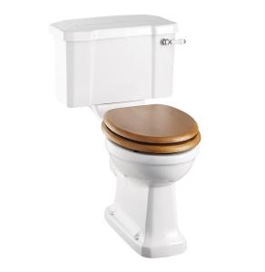 Burlington Standard Close Coupled Toilet Deep Ceramic Lever Cistern - Excluding Seat BU10018