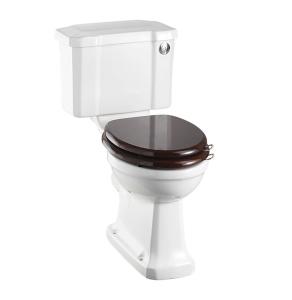 Burlington Standard Close Coupled Toilet Slimline Push Button Cistern - Excluding Seat BU10008
