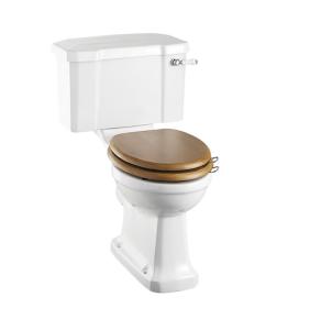 Burlington Rimless Close Coupled Toilet Lever Cistern - Excluding Seat BU10046