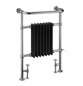 Burlington Trafalgar Radiator Towel Rail 950mm High x 640mm Wide - Black BU10800