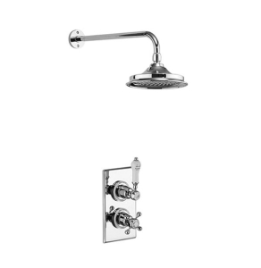 Burlington Trent Dual Concealed Mixer Shower with 6 inch Fixed Head - Chrome BU10661