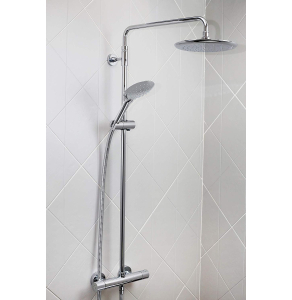 Bristan Carre Exposed Fixed Head Bar Shower with Diverter & Kit Chrome CR SHXDIVFF C