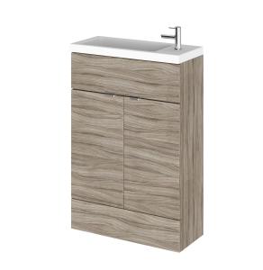 Hudson Reed Fusion Driftwood 600 Vanity Unit & Basin - Compact - CBI206 CBI206