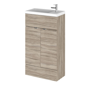 Hudson Reed Fusion Driftwood 500 Compact Vanity Unit & Basin - CBI222 CBI222