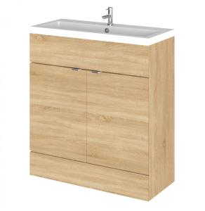 Hudson Reed Fusion Natural Oak 800 Vanity Unit & Basin - CBI328 CBI328