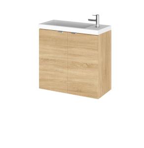 Hudson Reed Fusion Natural Oak 600mm Vanity Unit & Basin - CBI329 CBI329