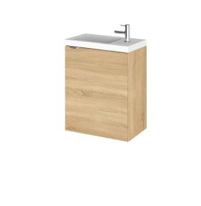 Hudson Reed Fusion Natural Oak 400mm Vanity Unit & Basin - CBI337 CBI337