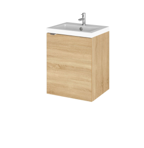 Hudson Reed Fusion Natural Oak 400mm Vanity Unit & Basin - CBI339 CBI339