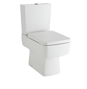 Nuie Bliss White Contemporary Semi Flush to Wall WC - CBL008 CBL008