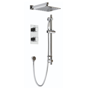 Bristan Cobalt Recessed Dual Control Shower Pack Chrome COBALT SHWR PK