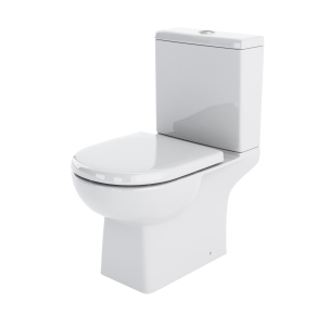 Nuie Asselby White Contemporary Close Coupled WC - CSS004 CSS004