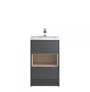 Hudson Reed Coast Grey Gloss Floor Standing 500 Cabinet & Basin 2 - CST875 CST875