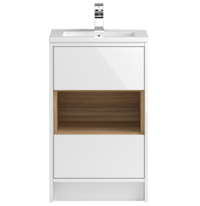 Hudson Reed Coast White Gloss Floor Standing 500 Cabinet & Basin 2 - CST885 CST885