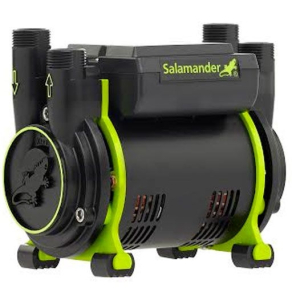 Salamander 2.0 Bar Twin End Positive Head Shower Pump CT75+ XTRA CT75+XTRA