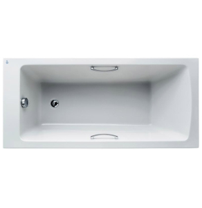 Ideal Standard Tempo Arc Water Saving 1700mm x 700mm Bath No Tap Holes With Grips - E156201 - E156201 IS10666