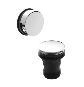 Nuie Wastes & Extras Chrome Contemporary Push Button Bath Waste - E327 E327