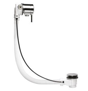 Nuie Wastes & Extras Chrome Contemporary Freeflow Bath Filler - E358 E358