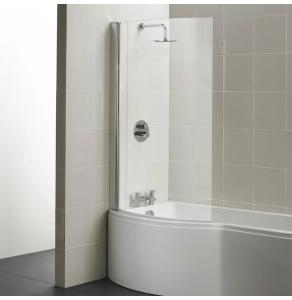 Ideal Standard Concept Shower Bath Screen 1022mm Wide Silver Frame 5mm Glass - E7407AA IS10638