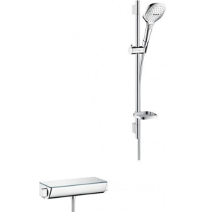 Hansgrohe Raindance Select E Shower system 120 with Ecostat Select thermostatic mixer and shower rail 65 cm - 27038000 27038000