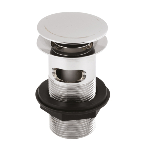 Nuie Wastes & Extras Chrome Contemporary Push Button Basin Waste - EK303 EK303