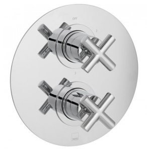 Vado Elements Water 3 Outlet 2 Handle Thermostatic Shower Valve Wall Mounted - Ele-148D/3-C/P VADO1626