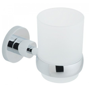 Vado Elements Frosted Glass Tumbler And Holder Wall Mounted - Ele-183-C/P VADO1127