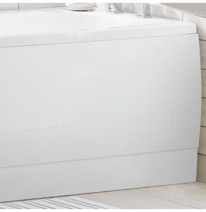 TNS OCEAN End Straight Bath Panel, 700mm Wide, White EB208C