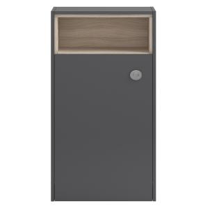 Hudson Reed Coast Grey Gloss 600 Open Shelf WC Unit - FMC856 FMC856