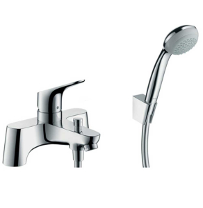 Hansgrohe Focus Chrome 2-Hole Deck Mounted Single Lever Bath Shower Mixer Tap - 31521000 31521000