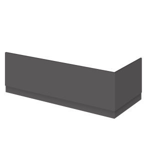 Nuie Athena Gloss Grey Contemporary 800mm Bath End Panel - OFF972 OFF972