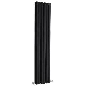 Nuie Revive Double Panel High Gloss Black Contemporary Designer Radiator - HLB77 HLB77
