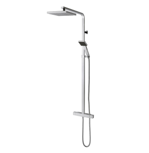 TNS Options Square Thermostatic Bar Mixer Valve with Overhead Rain Shower HNX