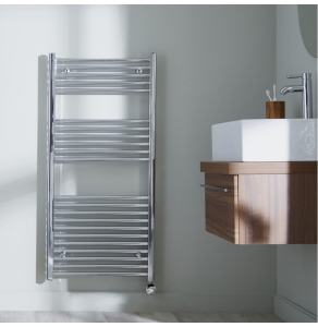 Bestheat Richmond Thermostatic Electric Straight Towel Rail 1186mm High x 450mm Wide In Chrome - 136008 136008