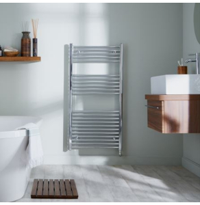Bestheat Richmond Thermostatic Electric Straight Towel Rail 691mm High x 450mm Wide In Chrome - 136010 136010