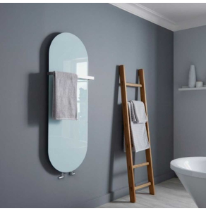 Bestheat Vetro Electric Glass Radiator Soap 1380mm High x 500mm Wide In White - 144241 144241