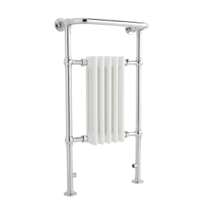 965mm x 540mm Hudson Reed Small Harrow Traditional Radiator Chrome/White- HTD06 HTD06