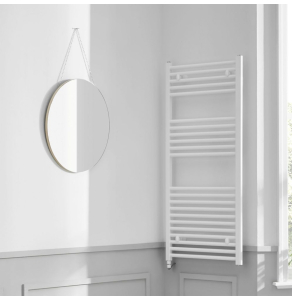 Bestheat Richmond Electric Straight Towel Rail 1186mm High x 450mm Wide In White - 136076 136076