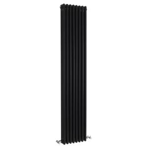 Nuie Colosseum High Gloss Black Traditional Triple Column Radiator - HXB12 HXB12