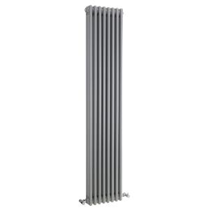 Nuie Colosseum High Gloss Silver Traditional Triple Column Radiator - HXS12 HXS12