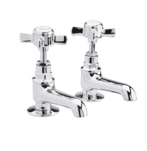 Nuie Beaumont Chrome Traditional Basin Taps - I321XE I321XE