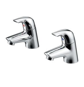 Ideal Standard Ceraplan Bath Pillar Taps Pair Chrome - B7885AA IS10602