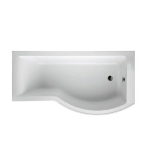 Ideal Standard Concept Shower Bath 1700mm x 700mm/900mm Right Handed 0 Tap Hole White - E731501 - E731501 IS10343