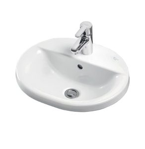 Ideal Standard Concept Oval Countertop Basin 550mm Wide 1 Tap Hole - E500401 IS10235
