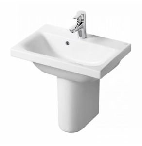 Ideal Standard Concept Space Basin with Semi Pedestal 500mm Wide - 1 Tap hole IS10266