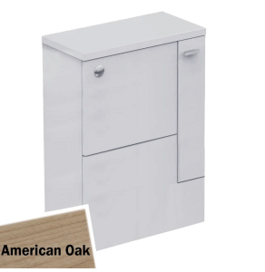 Ideal Standard Concept Space WC Unit with Adjustable Cistern RH 600mm Wide - American Oak - E1436SO IS10425