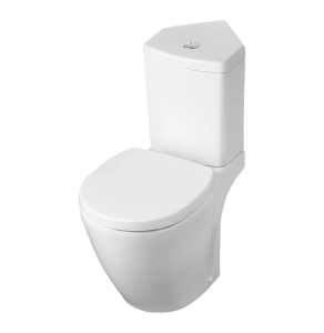 Ideal Standard Concept Space Close Coupled Toilet with Corner Cistern - Soft Close Seat IS10123