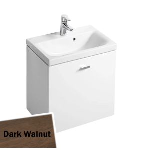 Ideal Standard Concept Space Wall Hung Vanity Unit with Basin 550mm Wide - Dark Walnut IS10485