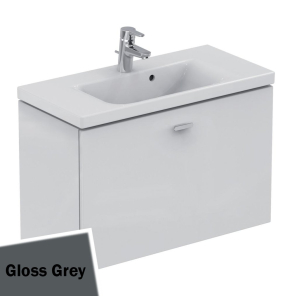 Ideal Standard Concept Space Wall Hung Vanity Unit with Basin 800mm Wide - Gloss Grey IS10524