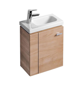 Ideal Standard Concept Space Wall Hung Vanity Unit with LH Basin 450mm Wide - American Oak IS10545