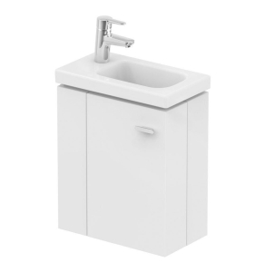 Ideal Standard Concept Space Wall Hung Vanity Unit with LH Basin 450mm Wide - Gloss White IS10391